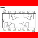 4001: cuatro puertas NOR